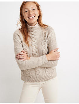 Grenville Cableknit Mockneck Sweater by Madewell