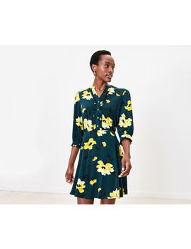 Floral Ruffle Shirt Dress by Oasis