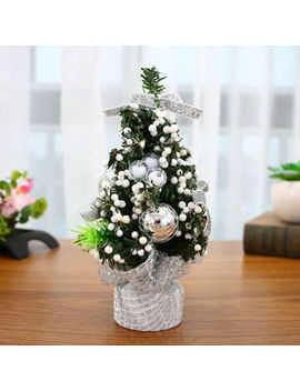 Christmas Trees Ornaments Mini Xmas Gift Xmas Decorations Desk Table Decor 20cm by Unbranded