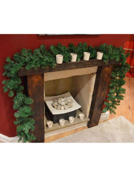 Xmas Garland Christmas Decoration Green Fireplace Mantel Tree Pine 2.7 M X 25 Cm by Unbranded