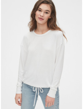 Softspun Tie Hem Top by Gap