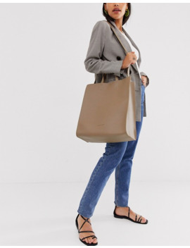 Claudia Canova Large Tote Bag In Taupe by Asos