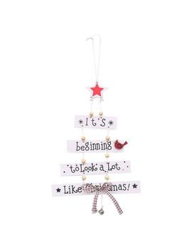 Christmas Colorful Wooden Pendant Door Decoration Hanging Party Decor Ornament R by Unbranded