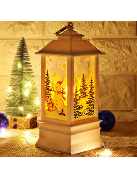 Santa Claus Candlestick Christmas Decoration Hanging Lantern Light Lamp Led by Unbranded