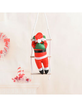 Au Climbing Santa With Rope Ladder! 3 Ft Indoor/ Outdoor Christmas Decoration Hot by Unbranded/Generic