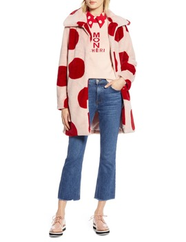 X Atlantic Pacific Polka Dot Faux Fur Coat by Halogen®