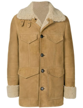 Shearling Jacket With Patch Pockets by Ami Paris