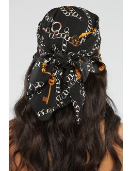 Off The Chain Head Scarf   Black by Fashion Nova