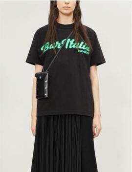 Bar Italia Print Cotton Jersey T Shirt by Sacai