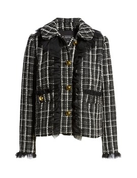 X Atlantic Pacific Tulle Ruffle Plaid Jacket by Halogen®