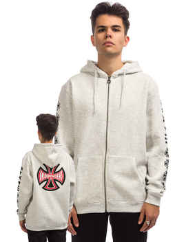 Independent Ante Zip Hoodie (Athletic Heather) by Independent