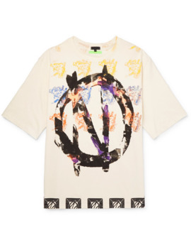 Oversized Printed Cotton Jersey T Shirt by 99%Is