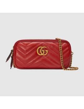 Gg Marmont Mini Tasche Mit Kette by Gucci