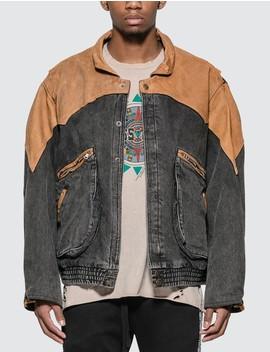 Guess X Alchemist Leather Denim Jacket by Alchemist