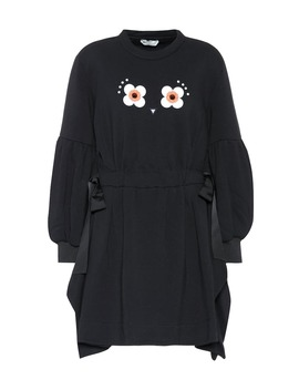 Embellished Cotton Blend Sweatshirt Dress by Fendi
