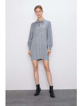 Vestido Mini Plumeti by Zara