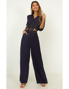See The Universe Two Piece Set In Navy by Showpo Fashion