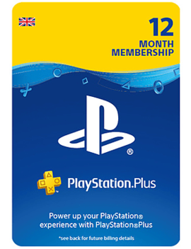 Play Station®Plus 12 Month Membership by Game