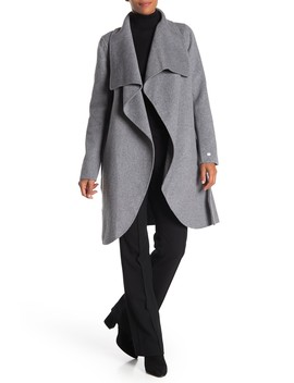 Open Front Wool Blend Coat by Soia & Kyo