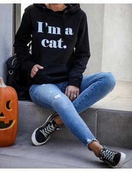 I'm A Cat Cotton Blend Hooded Sweatshirt   Final Sale by Vici