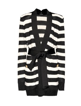 Striped Knitted Cardigan by Balmain
