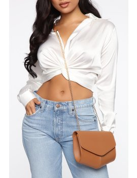 Adore Me Crossbody Bag   Tan by Fashion Nova