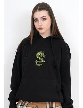 Dragon Hoodie   Neon Green, Embroidered Shirt, Aesthetic Hoodie, Aesthetic Clothing, Aesthetic Shirt,Embroidered Hoodie, Tumblr Clothing,Y2 K by Etsy