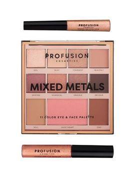 Profusion Mixed Metals Eye & Face Palette Rose Gold Chrome by Profusion