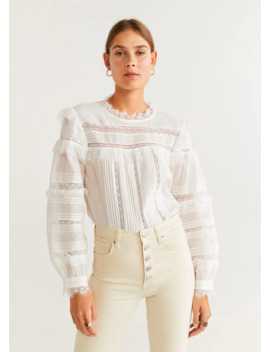 "<Font Style=""Vertical Align: Inherit;""><Font Style=""Vertical Align: Inherit;"">Cotton Blouse With Lace Pattern</Font></Font> by Mango"