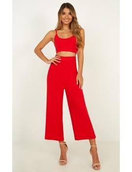 Cherry Berry Two Piece Set In Red by Showpo Fashion