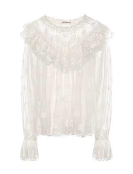 Lucien Embroidered Blouse by Ulla Johnson
