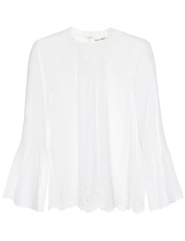 Halsey Cotton And Linen Top by Ulla Johnson