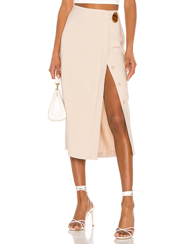 The Jeanne Midi Skirt In Sand by L'academie