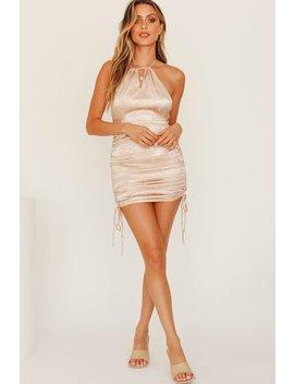 Keep It Real Drawstring Dress // Musk by Vergegirl