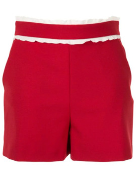 Frill Trim Shorts by Red Valentino