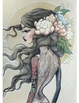 Print Of My Original Illustration   'flower Princess' by Etsy