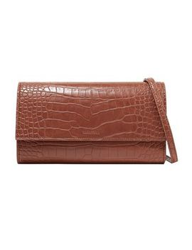Croc Effect Faux Leather Shoulder Bag by Nanushka