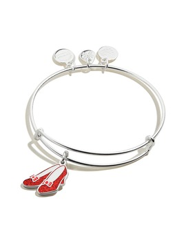 Wizard Of Oz Glitter Ruby Slippers Expandable Wire Bangle by Alex And Ani