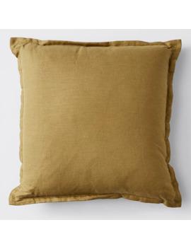 Gigi Washed Linen Cushion   Mustard by Target