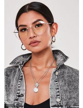 Quay Australia Gold Jezabell Blue Light Glasses by Missguided