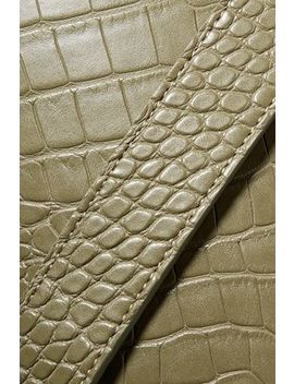 Kat Croc Effect Vegan Leather Bucket Bag by Nanushka