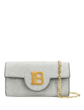 Glitter Metallic Chain Mini Bag by Balmain