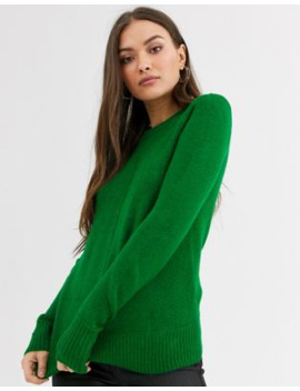 Warehouse Jumper With Crew Neck In Bright Green by Warehouse