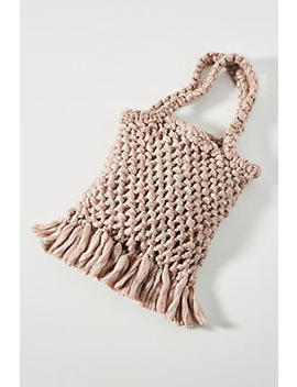 Mariana Macrame Tote Bag by Anthropologie