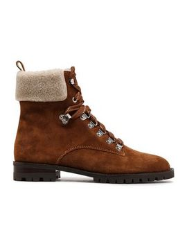 Faux Shearling Paneled Suede Ankle Boots by Rebecca Minkoff