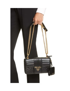 Small Quilted Leather Shoulder Bag by Prada