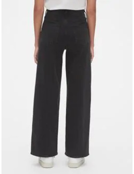 High Rise Seamed Wide Leg Jeans by Gap
