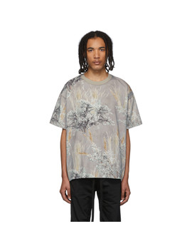 Grey Printed Short Sleeve T Shirt by Fear Of God
