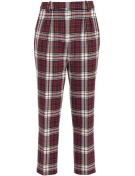 Parcoeur Checked Woven Tapered Pants by Claudie Pierlot