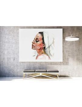 Feminine Wall Art, Figurative Art Print, Feminine Decor, Sophisticated Art, Girly Wall Art, Boho Art Portrait, Bathroom Art, Sensual Art by Etsy